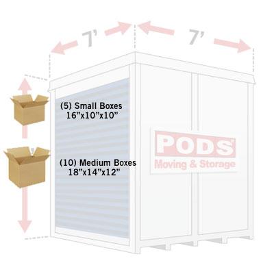 7' Economy Container Kit | PODS