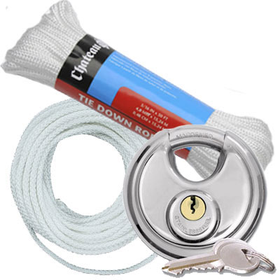 Locks | Nylon Rope | Tie Downs | PODS